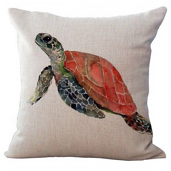 Nanticoke Sea Turtle Canvas 100% Cotton Throw Pillow by Rosecliff Heights
